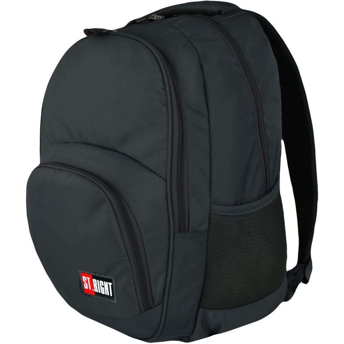 625cee1739070 Plecak szkolny ST.RIGHT 2-komory ST.GRAY szary klasyczny wzór dla chłopaka
