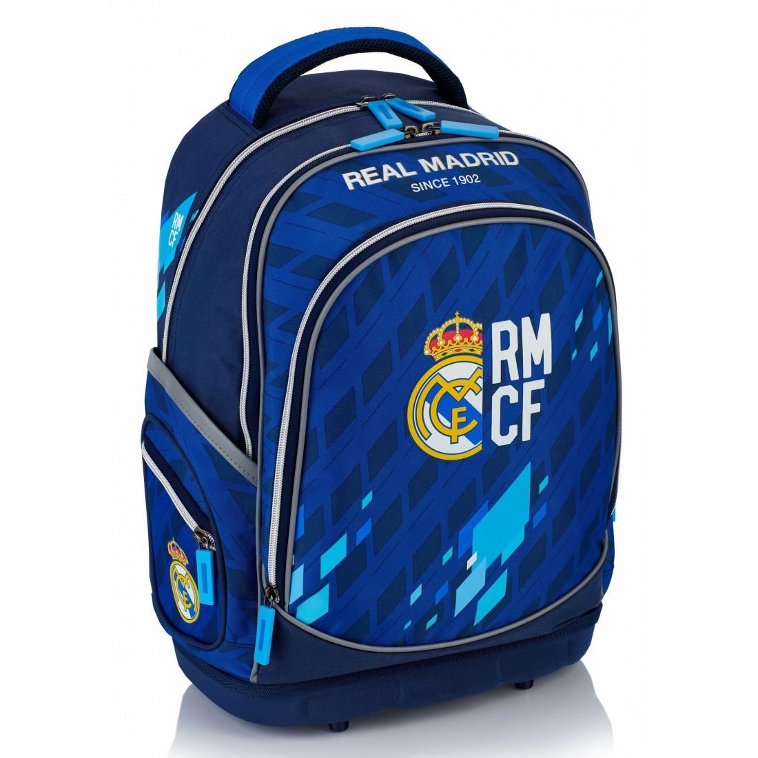 951a39b3fffe8 Plecak ergonomiczny Real Madryt granatowo - niebieski do szkoły - RM-131