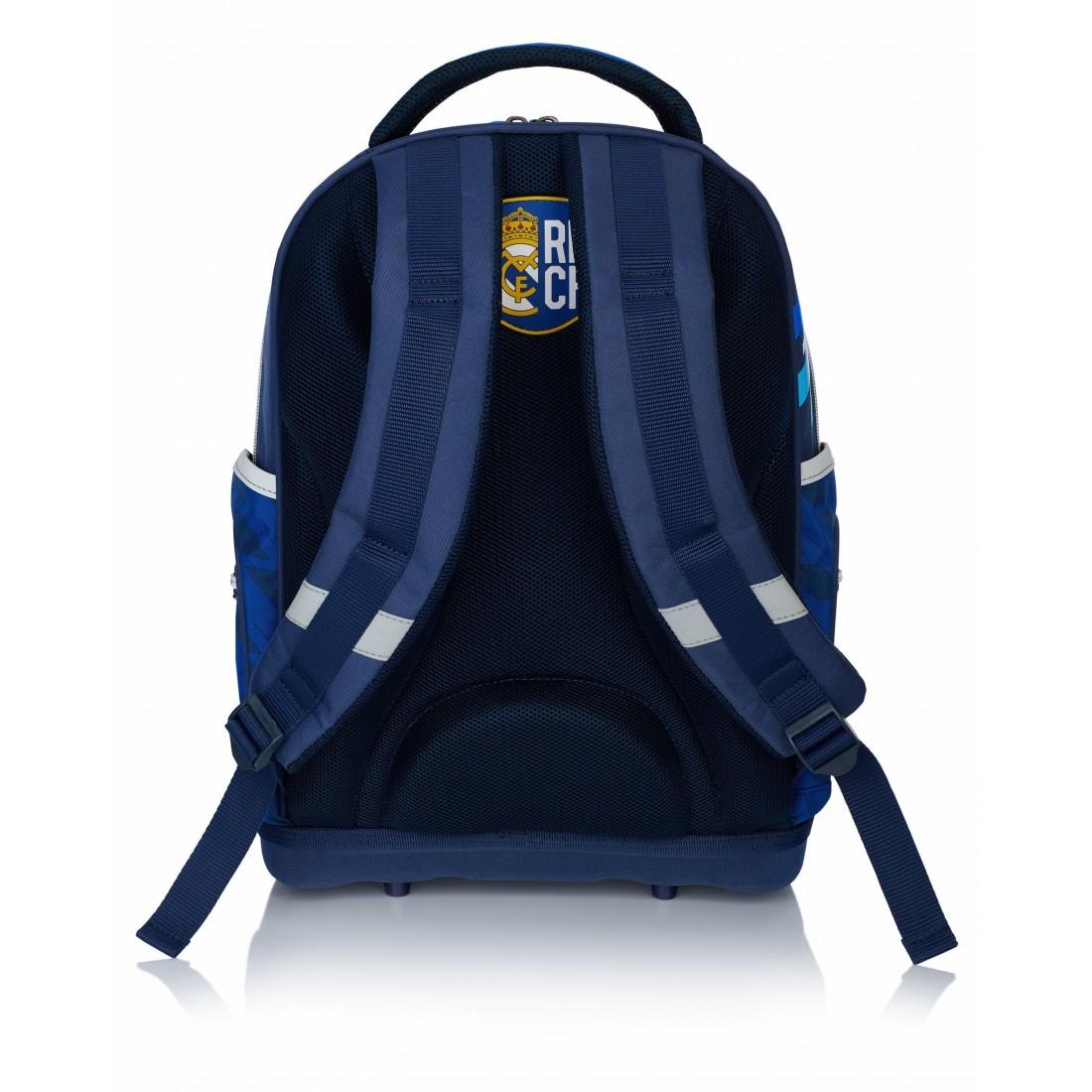 3ba82e16bac00 Plecak ergonomiczny Real Madryt granatowo - niebieski do szkoły - RM-131 -  plecak-tornister.pl