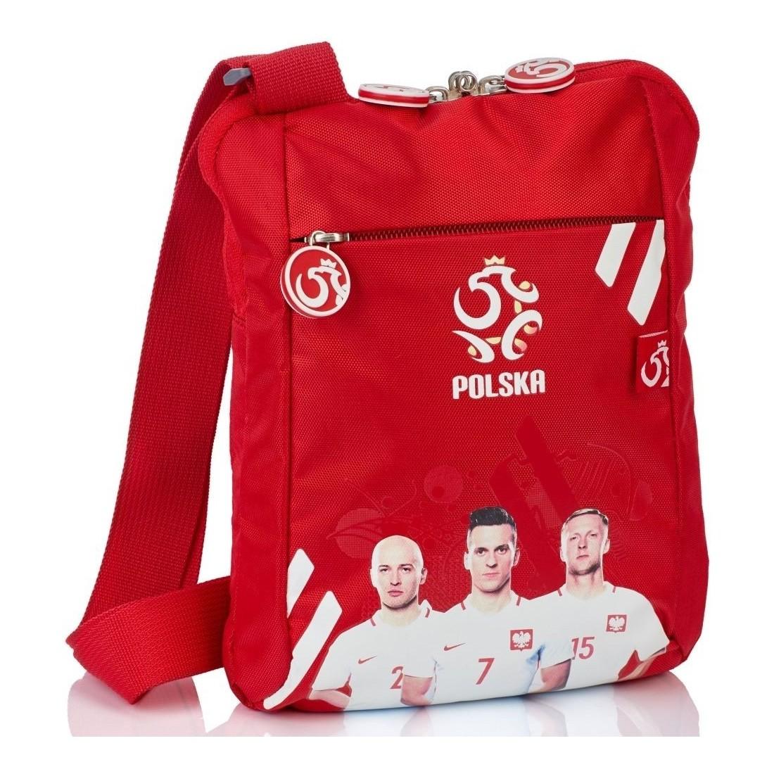 Mała torebka na ramię REPREZENTACJA POLSKI PZPN Milik czerwona HIT 2018 - plecak-tornister.pl