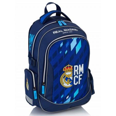 Plecak młodzieżowy Real Madryt granatowy do szkoły granatowo - niebieski - RM-122