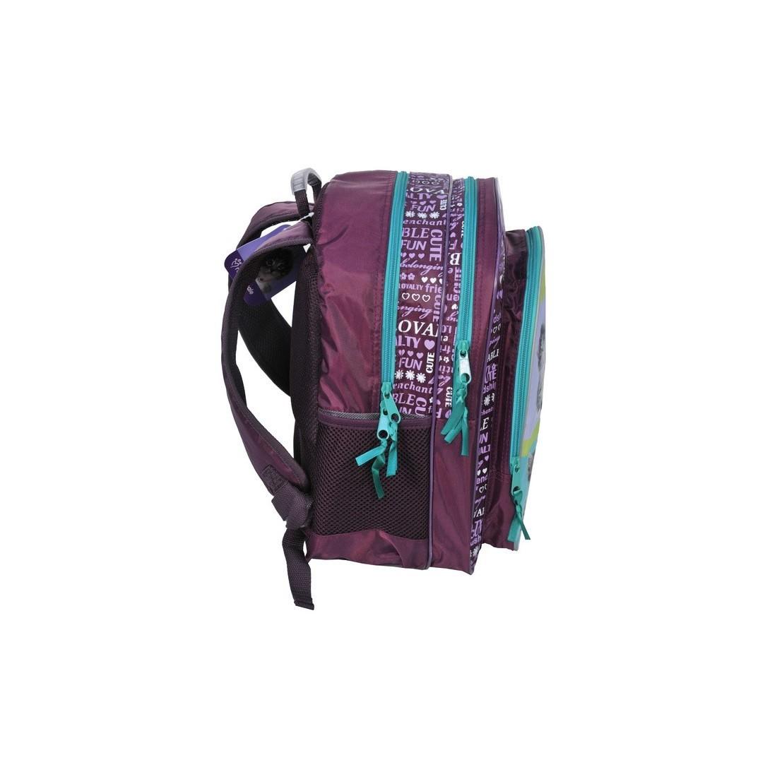 Plecak szkolny Rachael Hale fioletowy z psami - plecak-tornister.pl