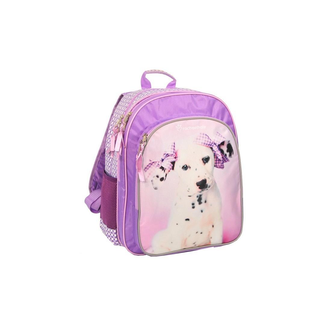 Plecak szkolny Rachael Hale różowy z psem - plecak-tornister.pl