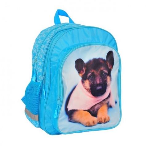 Plecak szkolny Rachael Hale niebieski z psem