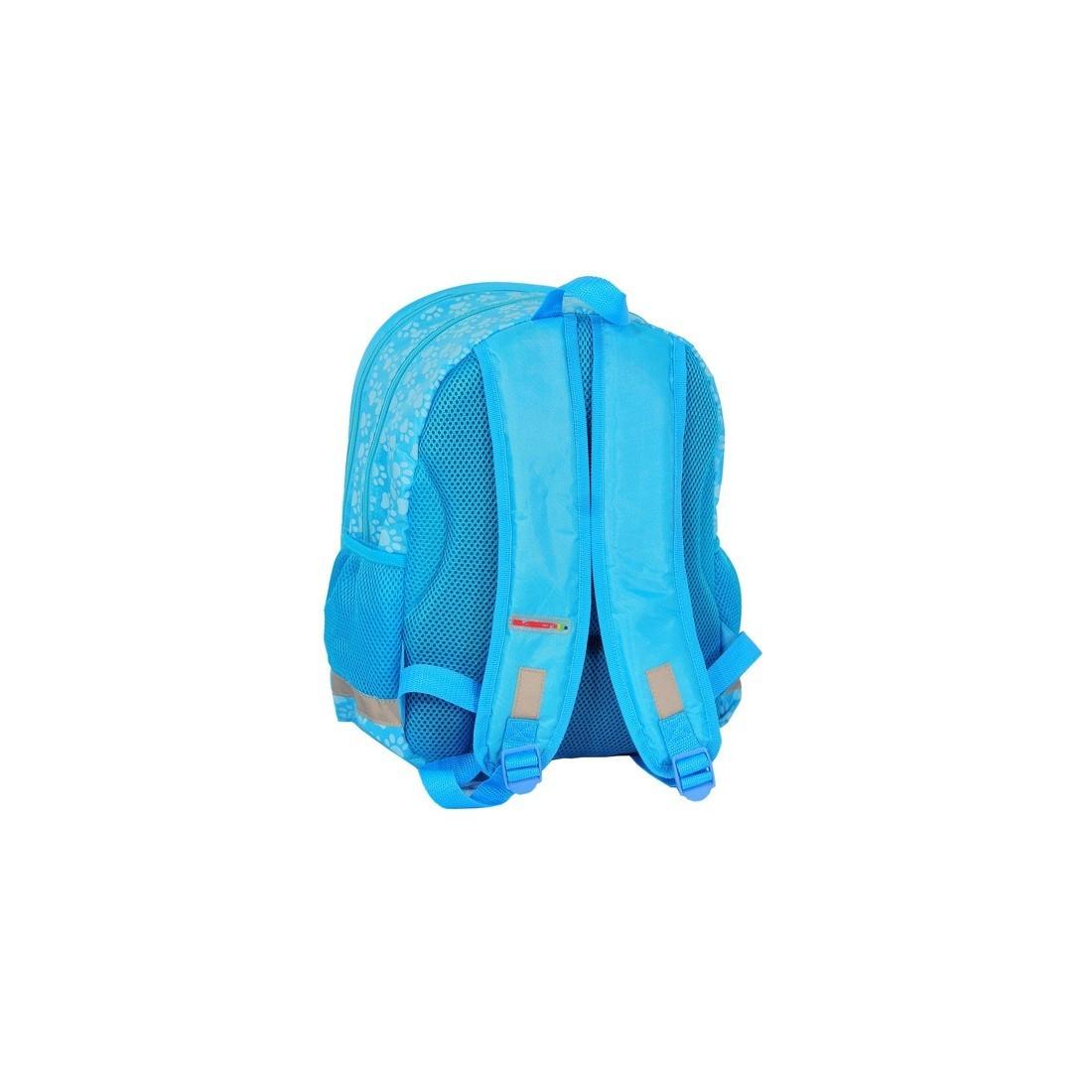 Plecak szkolny Rachael Hale niebieski z psem - plecak-tornister.pl