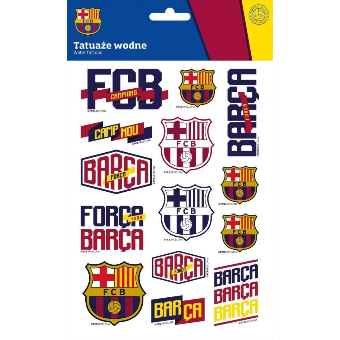 Tatuaże Fc Barcelona Wodne Dla Dzieci Fc 203