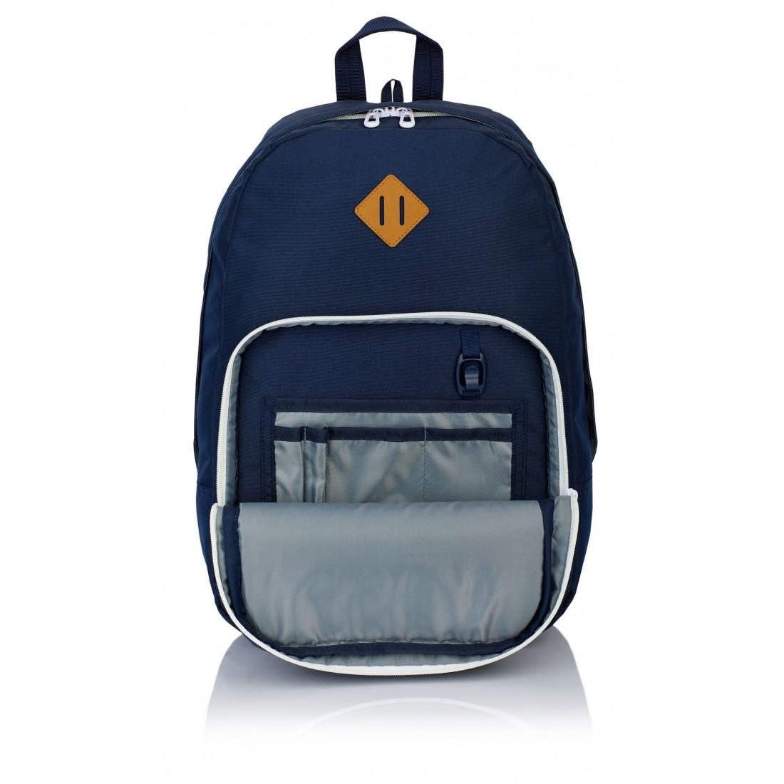 Plecak szkolny HEAD granatowy białe zamki młodzieżowy styl organizer