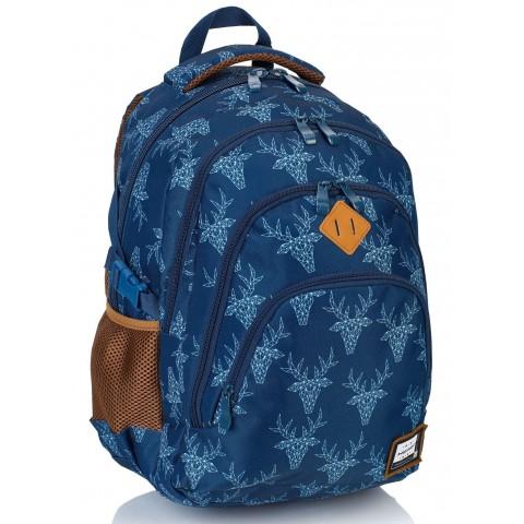 28f4e864ec040 ... Plecak HEAD szkolny granatowy w geometryczne jelenie HD-101 A. Dodaj do  koszyka