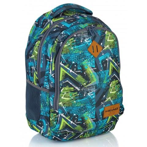 Plecak szkolny HEAD zielona abstrakcja - HD-78 B
