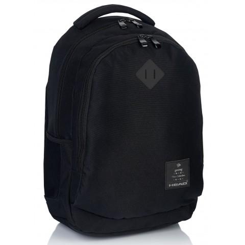 Plecak szkolny HEAD klasyczna czerń odblaski - HD-68 B