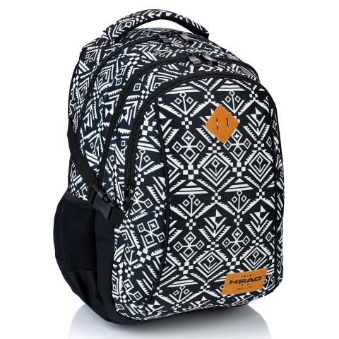 Plecak szkolny HEAD aztecki, czarno-biały - HD-74 D
