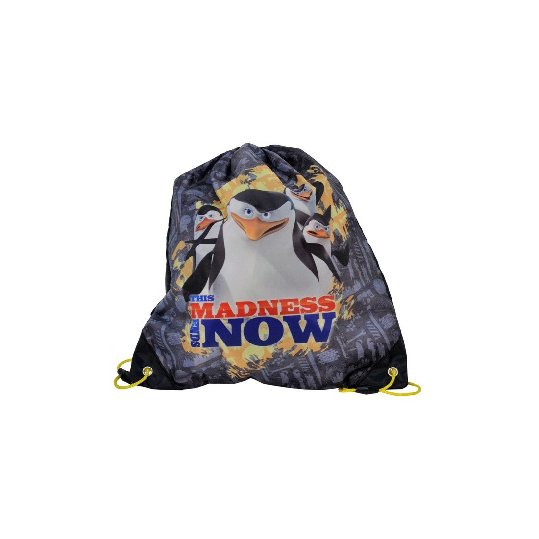 Worek Pingwiny z Madagaskaru madness - plecak-tornister.pl