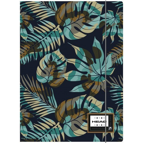 Teczka format A4 HEAD niebieska dżungla liście - HD-189