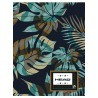 Zeszyt A5 HEAD 60 kartkowy w kratkę niebieska dżungla liście - HD-179