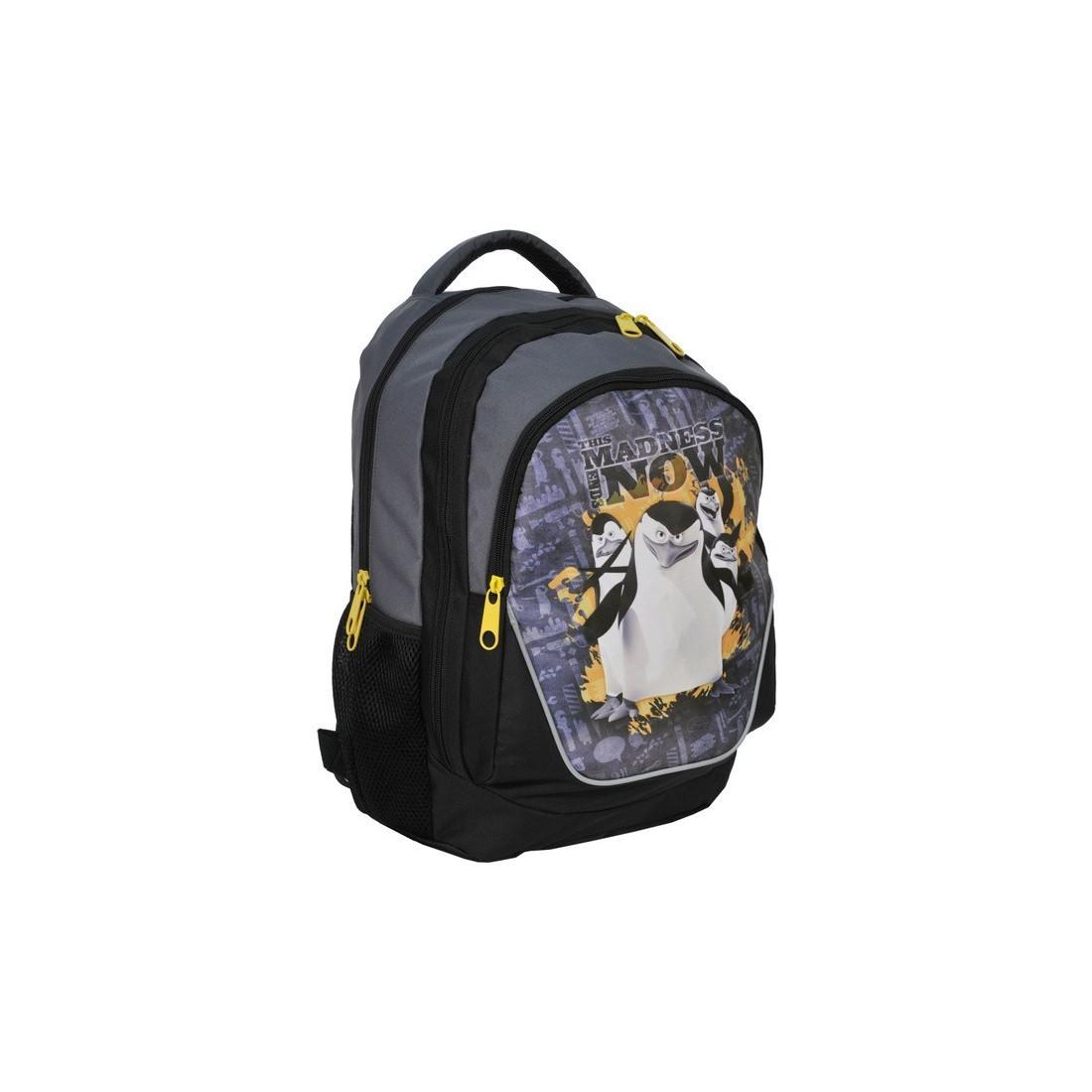 Plecak Pingwiny z Madagaskaru madness - plecak-tornister.pl