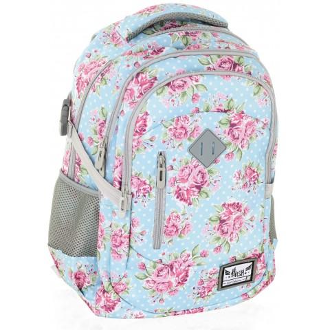 Plecak szkolny HASH różyczki - HS-01 H