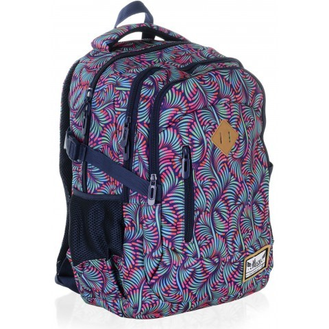 Plecak szkolny HASH kolorowe pióra - HS-13 H