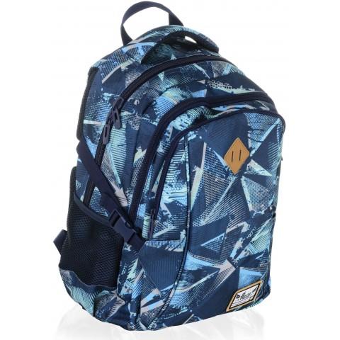Plecak szkolny HASH niebieska abstrakcja - HS-17 D