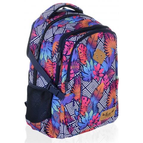 Plecak szkolny HASH jesienna abstrakcja liście - HS-09 D