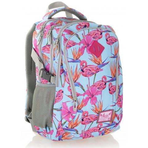 Plecak szkolny HASH różowe flamingi - HS-03 J
