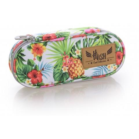 Piórnik / etui HASH ananasy i kwiat hibiskusa - HS-06