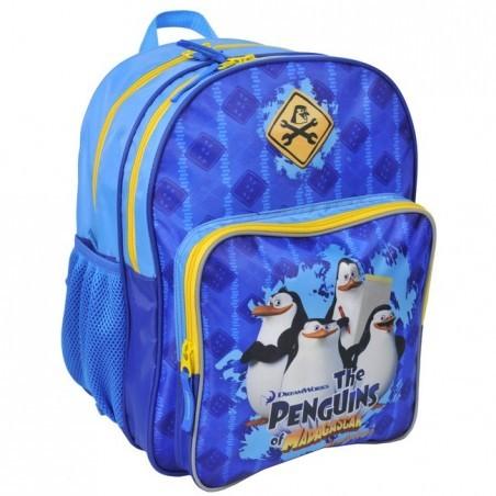 Plecak szkolny Pingwiny z Madagaskaru niebieski