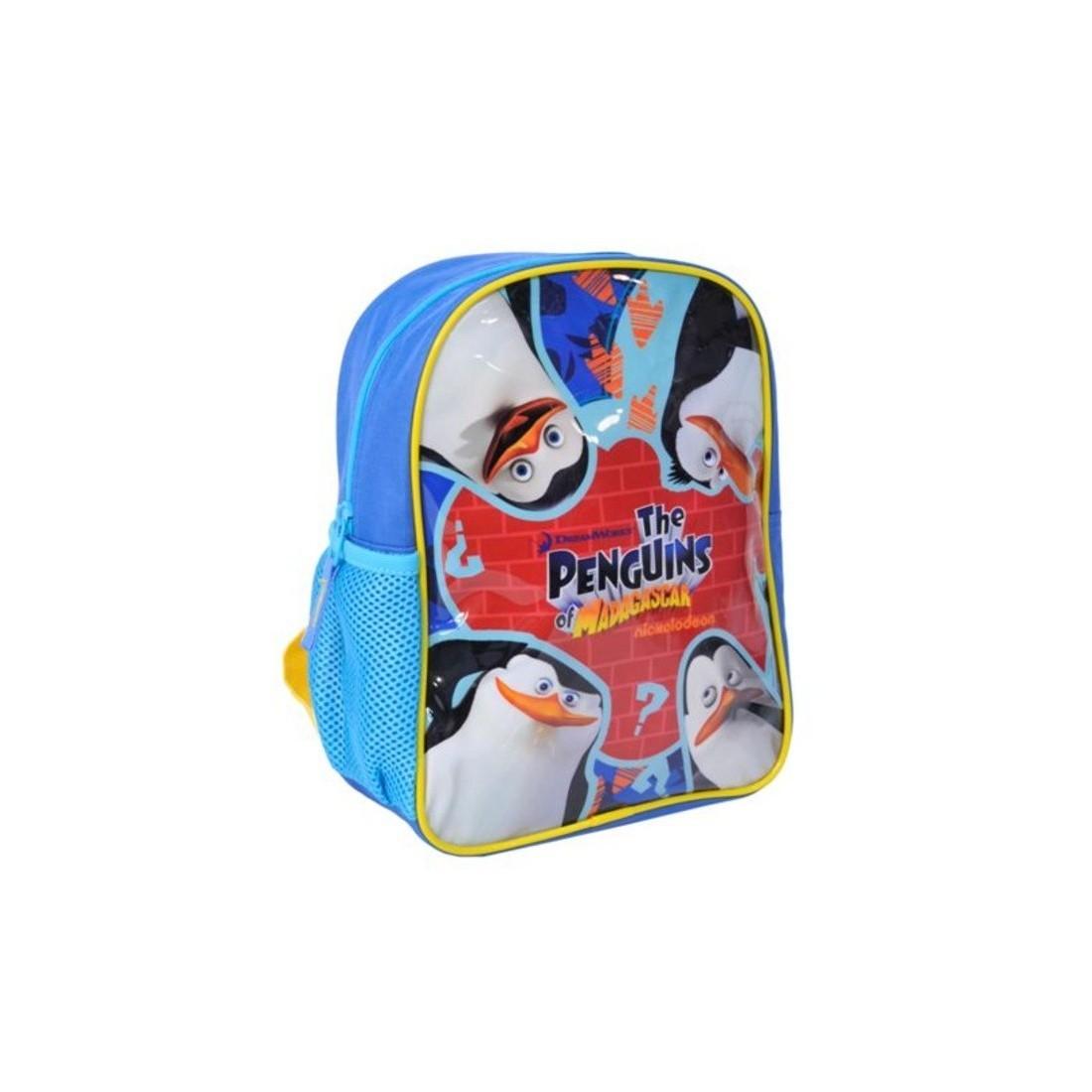 Plecaczek Pingwiny z Madagaskaru niebieski - plecak-tornister.pl