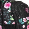 Plecak młodzieżowy Topgal czarny w róże kieszeń na laptop RUBI 18025 G