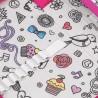 Piórnik szkolny Topgal storczyki różowe diamenty PENN 18019 G
