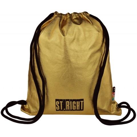 Worek / plecak na sznurkach ST.RIGHT GOLD złoty dla dziewczyny