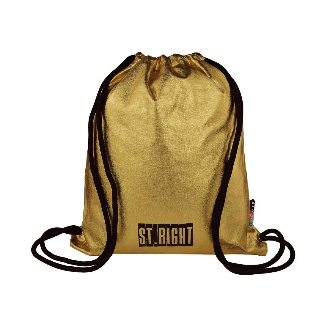 6a2566966efdd Worek   plecak na sznurkach ST.RIGHT GOLD złoty dla dziewczyny ...