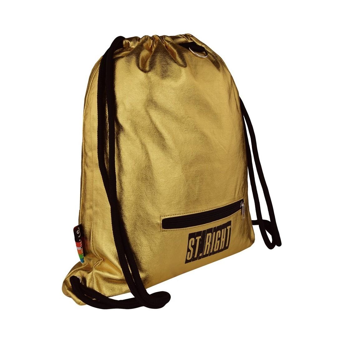 0163a1bc777c0 ... Worek   plecak na sznurkach ST.RIGHT GOLD złoty dla dziewczyny ...