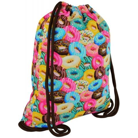 Worek / plecak na sznurkach ST.RIGHT DONUTS kolorowe pączki