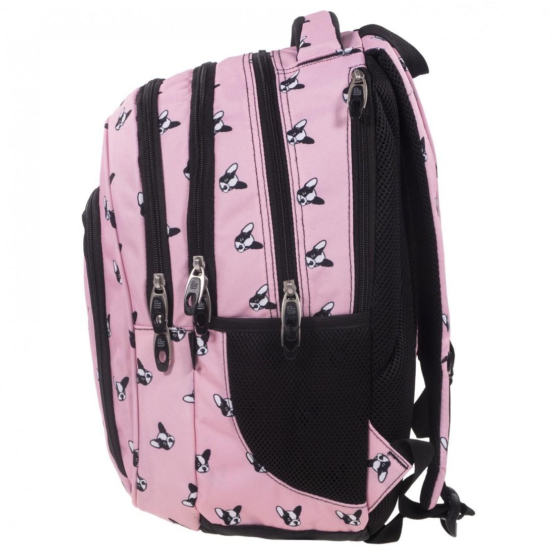 c77e3e0547fee ... Plecaki BackUP · Plecak szkolny pudrowy róż w pieski - buldogi BackUP D  17 + GRATIS słuchawki. Obniżka