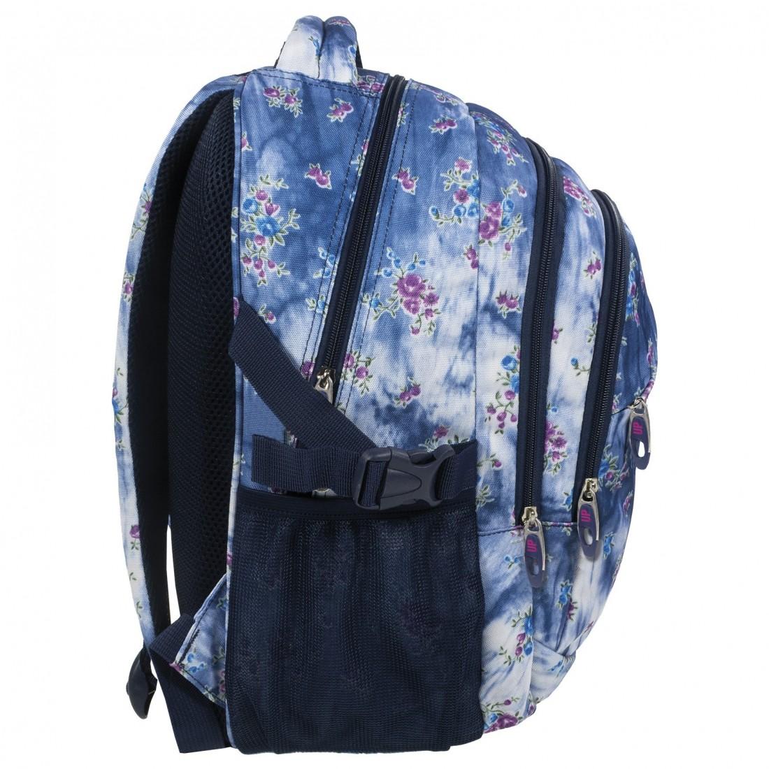 949119d3263d9 ... Plecak szkolny dziewczęcy marmurkowy jeans i kwiatki BackUP G 44.  Obniżka