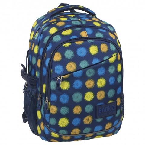 3d4f8c7f7a3e0 ... Plecak szkolny chłopięcy lekki granatowy w kolorowe kropki Back UP G  41. Dodaj do koszyka