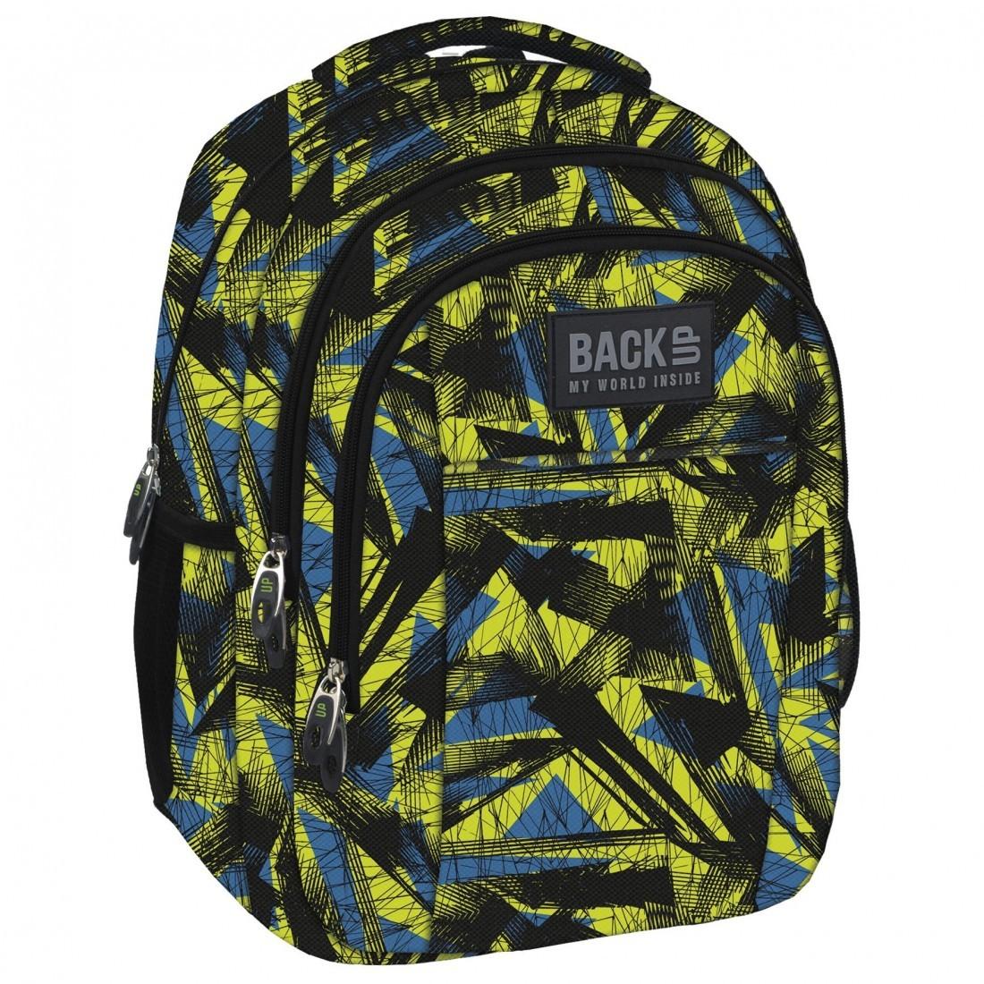 5d95552dcc80e Plecak dla chłopaka w abstrakcyjnym wzorze - abstrakcja w męskim stylu i  kolorystyce - to jest to! Wzór na plecaku BackUP został gustownie ożywiony  kolorem ...