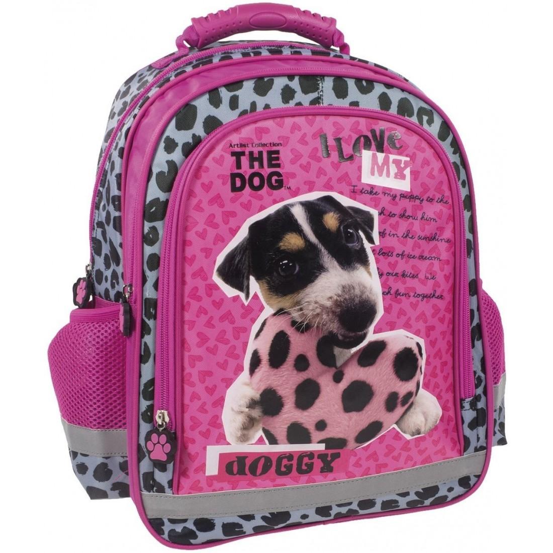 2503ee8db5d64 Plecak THE DOG szkolny w łaty PIES Z SERCEM - plecak-tornister.pl