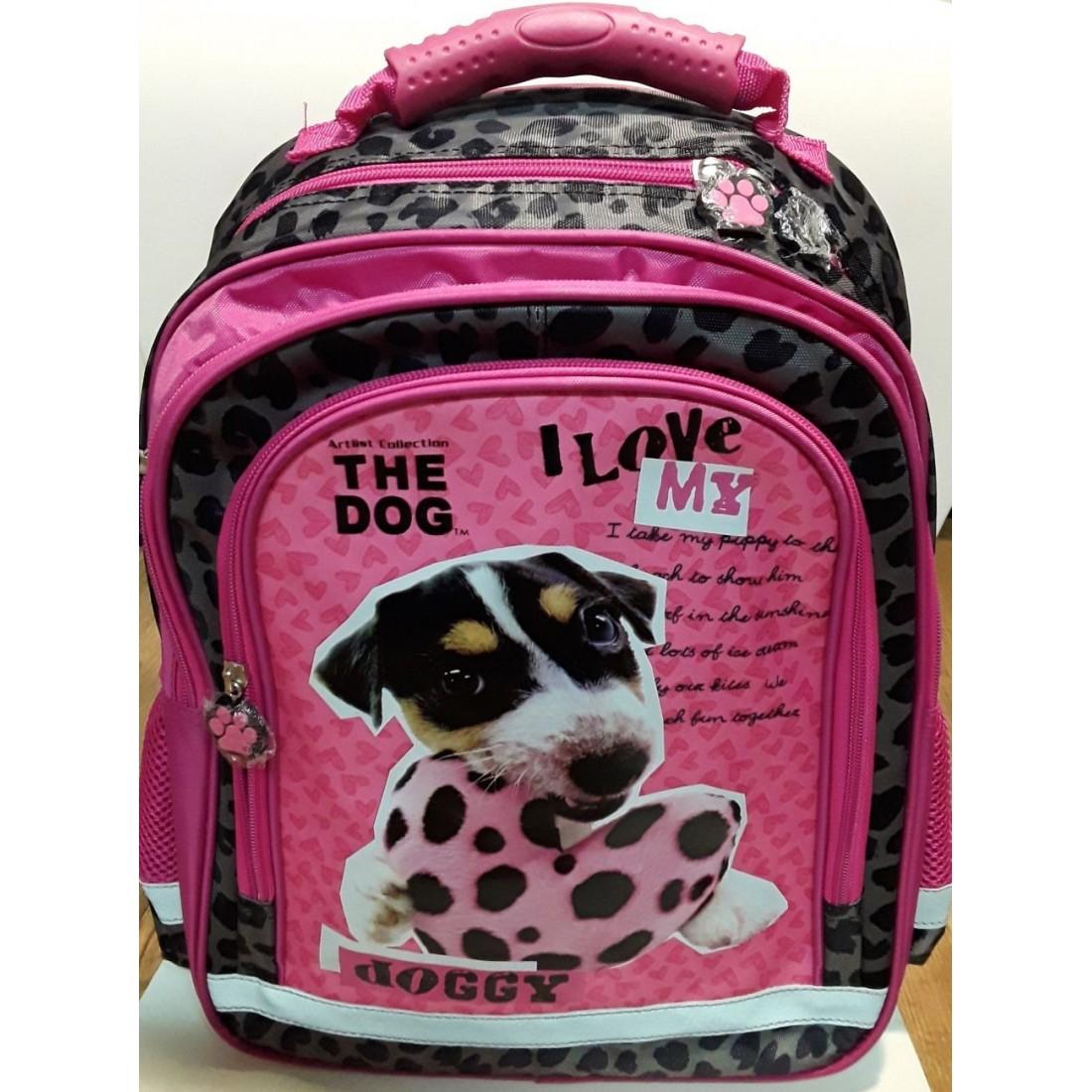 oryginalne buty sklep internetowy świetne dopasowanie Plecak THE DOG szkolny w łaty PIES Z SERCEM