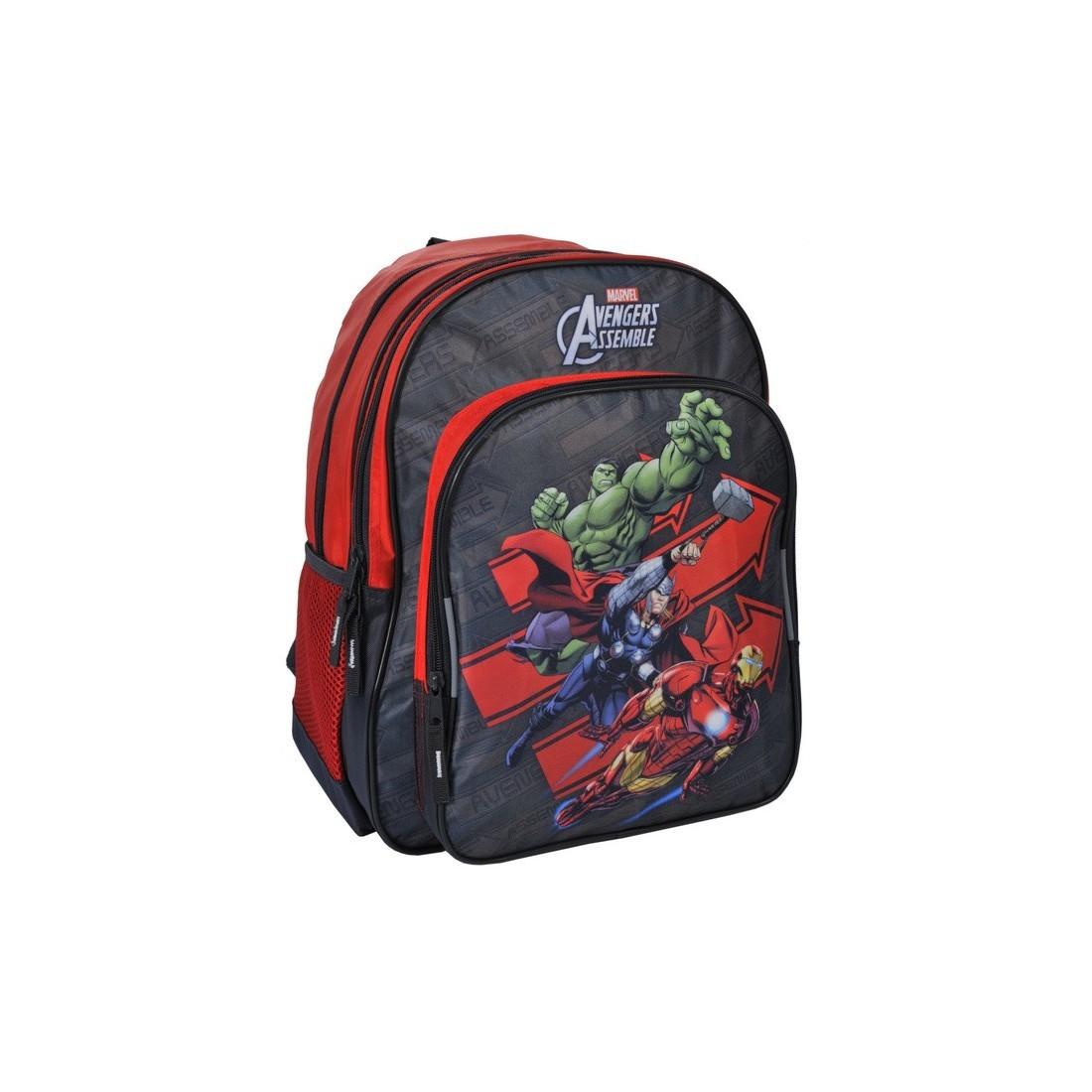 Plecak szkolny Avengers szaro czerwony - plecak-tornister.pl