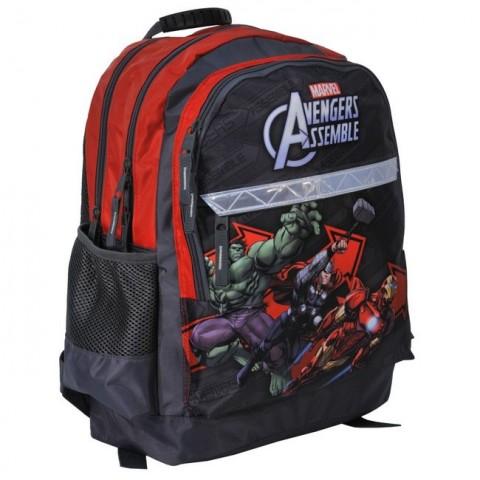 Plecak szkolny Avengers szaro czerwony z odblaskiem