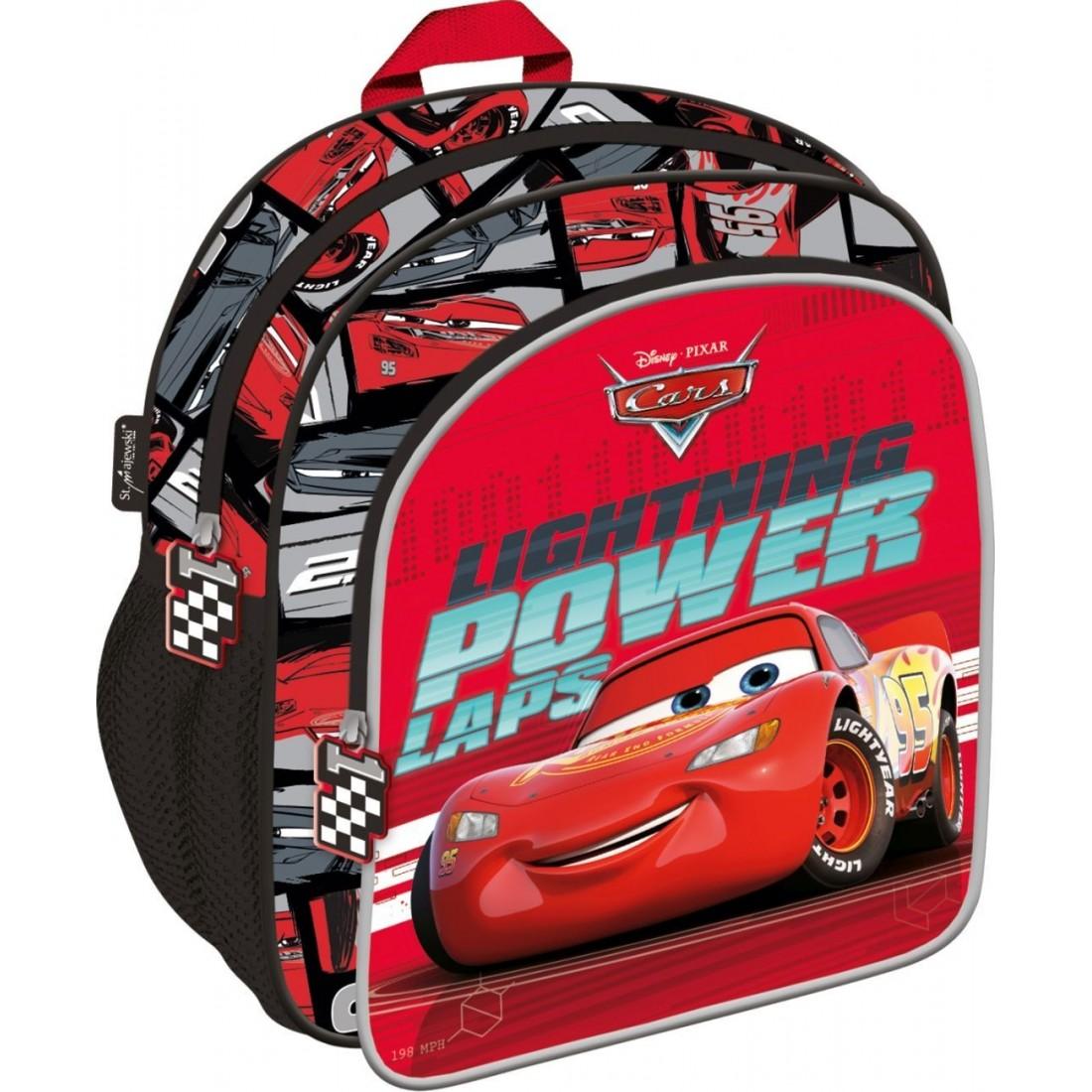 5a02dc51acb21 Mały plecak AUTA CARS Zygzak McQueen czerwony - plecak-tornister.pl