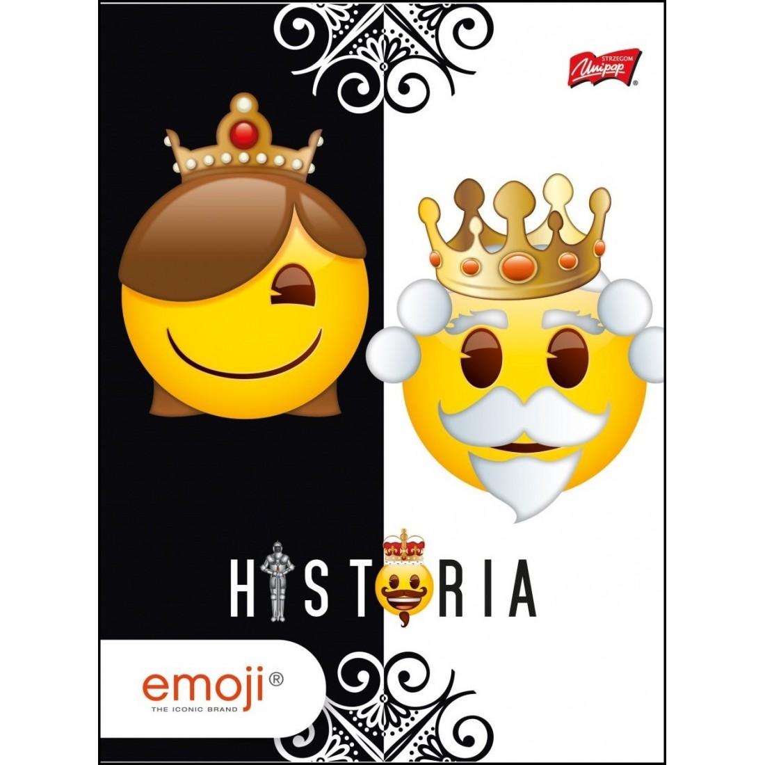 HISTORIA Zeszyt EMOJI w formacie A5 / 60k. KRATKA w emotki queen king - plecak-tornister.pl