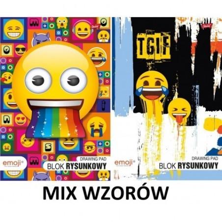 Blok rysunkowy EMOJI w formacie A4 z emotkami MIX WZORÓW