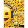 Teczka EMOJI z gumką format A4 żółta z emotkami