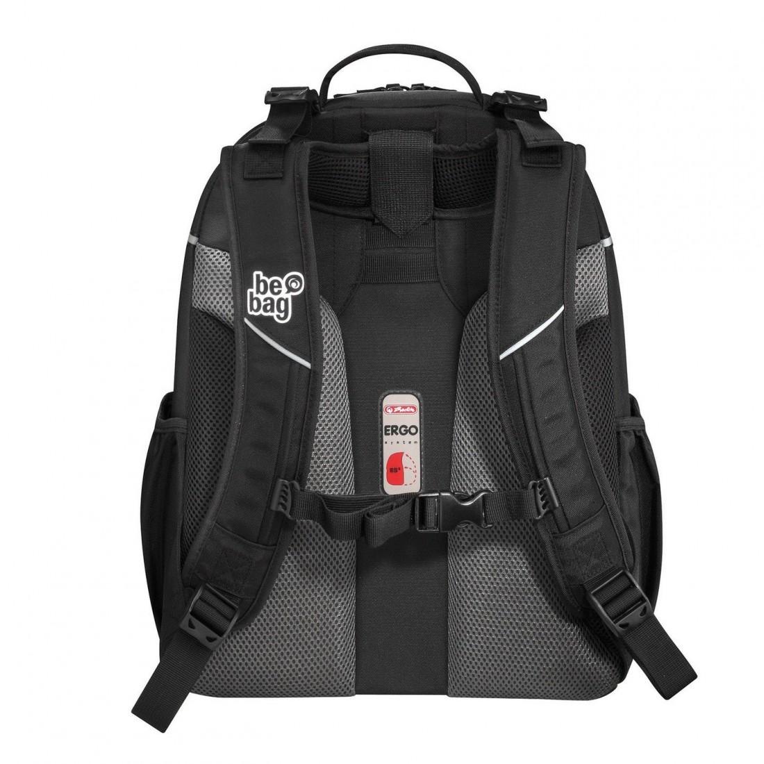 9504f00aed823 Plecak szkolny Herlitz Be.bag Airgo - Feather - czarny w kolorowe piórka  boho - plecak-tornister.pl