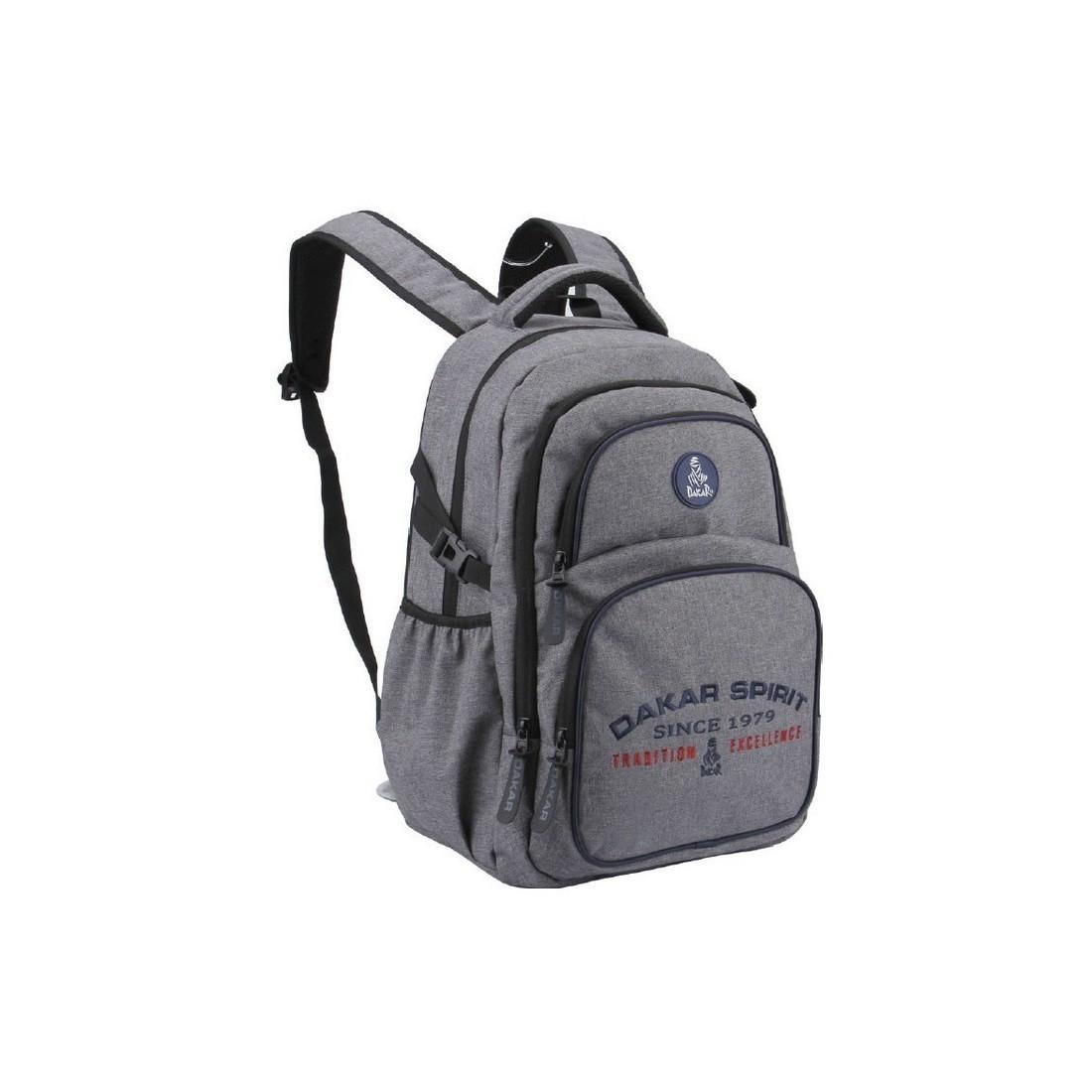 8d0708bcee701 Plecak RAJD DAKAR młodzieżowy SZARY MELANŻ sportowy z kieszenią na laptopa