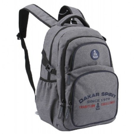 Plecak RAJD DAKAR młodzieżowy SZARY MELANŻ sportowy z kieszenią na laptopa