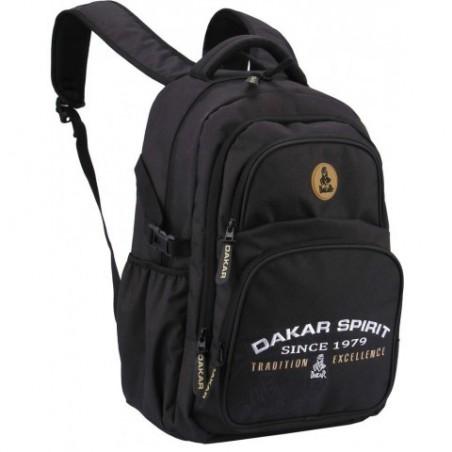 Plecak RAJD DAKAR młodzieżowy sportowy CZARNY kieszeń na laptopa