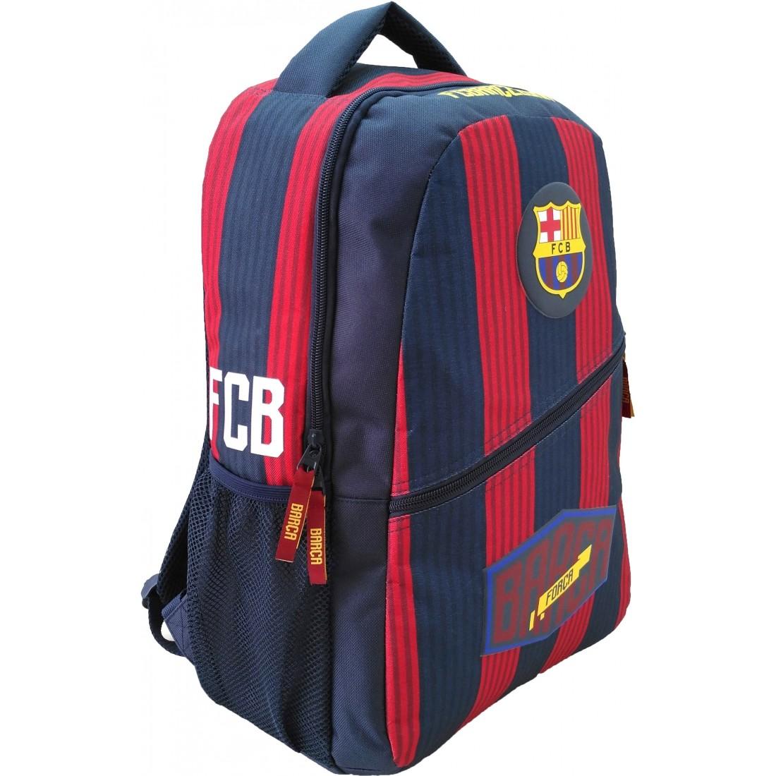63f1f9a489890 Plecak FC Barcelona miejski 1 komora czerwono granatowy BARCA ...